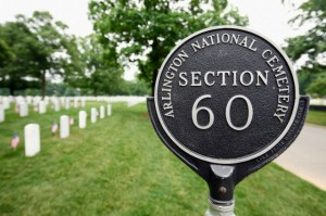 Section 60 in Arlington National Cemetery contains the graves of servicemen and women killed in Iraq and Afghanistan