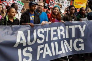 UK - Demonstration - TUC A Future That Works anti austerity cuts march