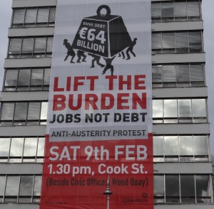 Thousands attend debt burden demonstration in Dublin