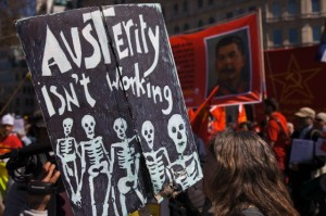UK - May Day - Demonstration by workers in London to celebrate Labour Day