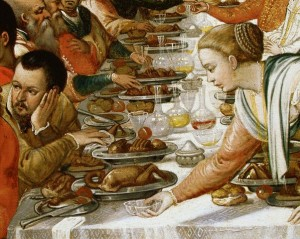 Detail Showing Diners from the Marriage Feast at Cana by School of Veronese