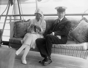 President Coolidge and His Wife