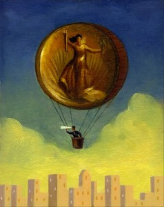 Coin hot air balloon