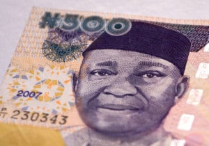 Five hundred naira. The naira is the currency of Nigeria. Image by © Dreamstime
