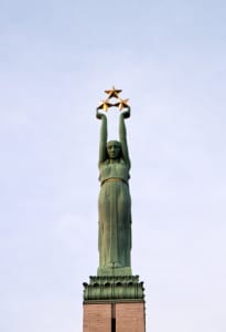 The Riga Monument to Freedom. Image by © Dreamstime