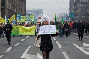 Protesters take to the streets of Poland, during the COP 14 Climate Change  Image by © Dreamstime