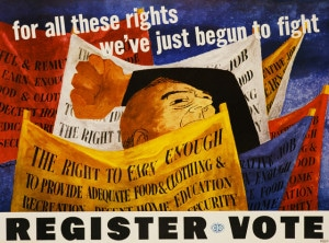 Register Vote Poster by Ben Shahn