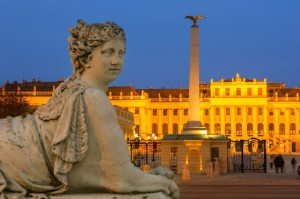 Vienna, Schonbrunn Palace at Dusk