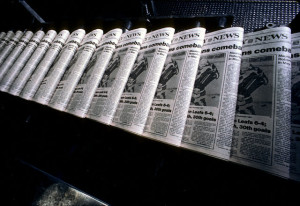Newspapers on Printing Press