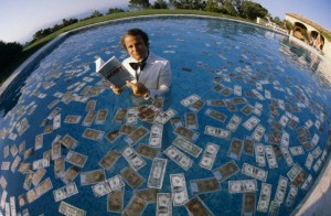Paul-Loup Sulitzer in Swimming Pool of Money
