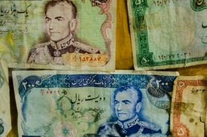 Old Iranian bank notes