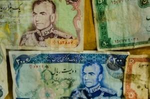 Old Iranian bank notes