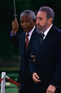 Nelson Mandela Being Visited by Fidel Castro