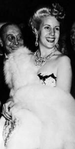 Eva Peron (Evita) in Rome, 1947