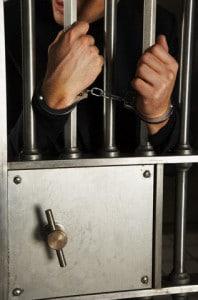 Man Handcuffed to Door of Bank Vault