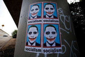 USA - Politics - Obama Joker Socialism Poster