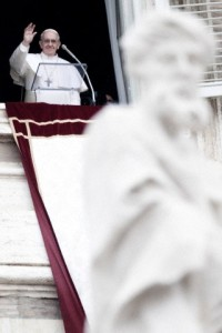 Italy - Religion - Pope Francis Delivers First Angelus Prayer