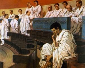 Roman Senate, Catiline, Detail