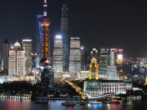 Urban scene, The Bund, Pudong, Shanghai, China