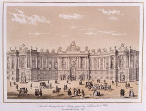 Chromolithograph of Imperial Royal Palace, Vienna Based on Designs by Fischer von Erlach