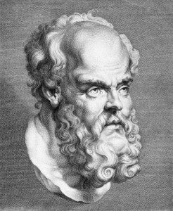 Engraving of a Head of Socrates