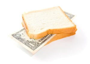 Inflation. That you can place in a sandwich - your money Image by © Dreamstime