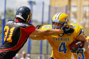 on September 3, 2011 in Sevilla, Spain. Sweden beats Germany 21:14 in the bronze medal game. Image by © Dreamstime