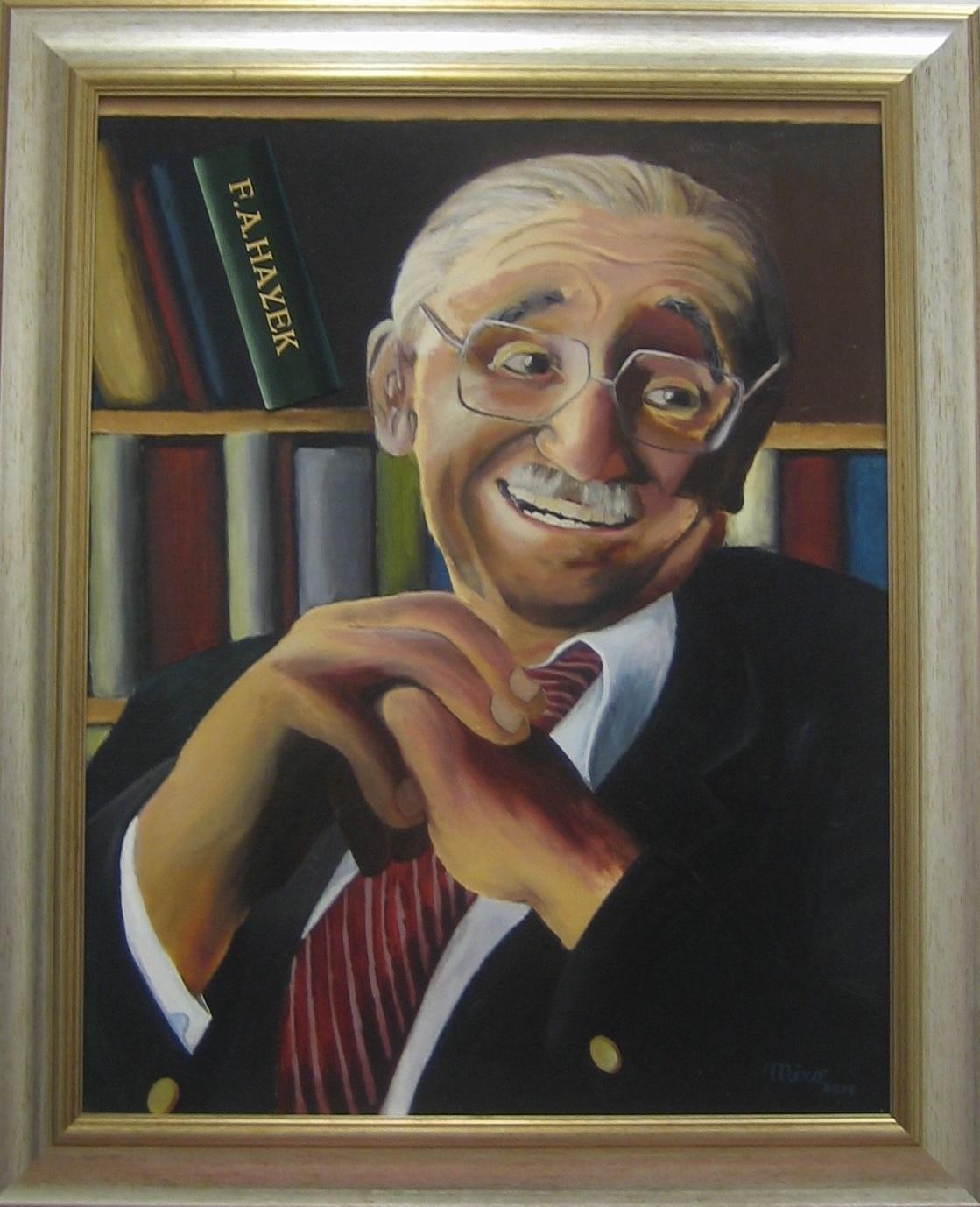 Hayek painting_Miroslav Kollar_2015
