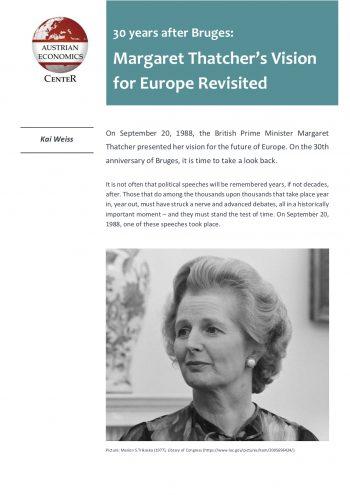 30 Years after Bruges: Margaret Thatcher's Vision for Europe Revisited • Thatcher Bruges e1536930346672