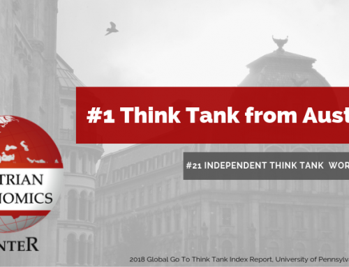We Are Austria's #1 Think Tank Again!